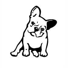 Vova Strong Adhesive Black Vinyl Window Decal Dog Pet Car French Bulldog 3d Sticker
