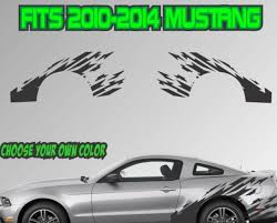 2010 2014 Ford Mustang Ripped Stripe Vinyl Decal Sticker Gt 5 0 Graphic Cobra