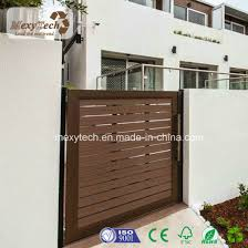 China Outdoor Electric Wpc Garden Fence With Sliding Gate China Electric Gate And Garden Fence Price