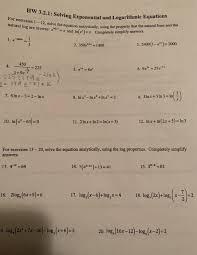 solved hw 3 2 1 solving exponen