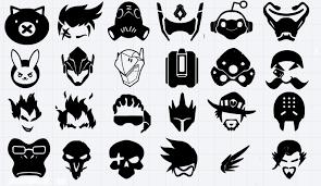 Overwatch Character Vinyl Decals Window Decal Laptop Sticker Bumper Sticker Vinyl Decals Bumper Stickers Character Symbols