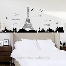 Kk049 Eiffel Tower Wall Sticker Removable Wall Decal Buy Paris Wall Decal Vinyl Wall Decal Transparent Wall Decal Product On Alibaba Com