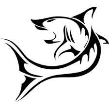 Bubbas Trible Shark 5 X 6 Vinyl Car Truck Window Decal White Sticker