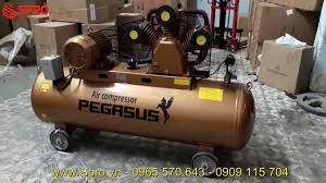 Máy nén khí 10HP, máy bơm hơi giá rẻ PEGASUS Dung tích 330L áp 8 bar -  YouTube
