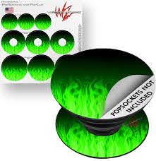 Decal Style Vinyl Skin Wrap 3 Pack For Popsockets Fire Green Popsocket Not Included By Wraptorskinz Walmart Com Walmart Com