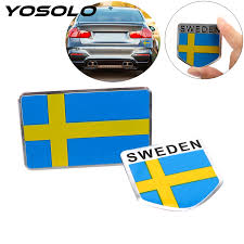 Yosolo Sweden Flag Car Sticker Car Styling Emblem Decal Badge For The Car Whole Body Aluminum Scratch Cover Sticker Car Stickers Aliexpress