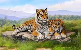 tigers art wallpapers hd wallpapers