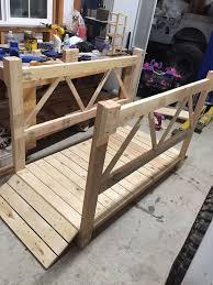 diy wood garden bridge with images