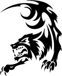 Motorcycle Wolf Tribal Clip Art Library