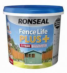Ronseal Fence Life Plus 5l Sage Amazon Co Uk Diy Tools