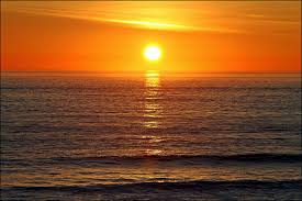sea sunset sun sky wallpaper