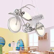 Litfad Modern Led Pendant Light White Industrial Cool Motorcycle Ceiling Light For Boys Bedroom Kids Room Children Bedroom Amazon Com
