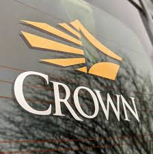 The Crown Store Crown Car Decal Gold Silver Stacked
