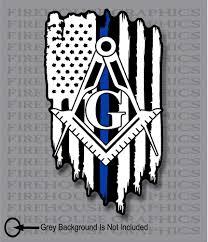 Thin Blue Line Police Masons Masonic Freemasons American Flag Sticker Decal Ebay American Flag Sticker Decals American Flag Sticker American Flag Decal