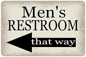dyenamic art mens bathroom sign 12x8
