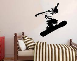 Snowboard Wall Decal Etsy