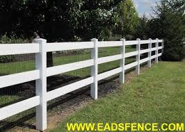 Ohio Fence Company Eads Fence Co Vinyl Ranch Rail Fences