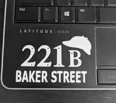 Sherlock 221 B Baker Street Decal Sherlock Sticker Sherlock Decal Sherlock Holmes Laptop Sticker Phone Decal Car Decal Sherlock And Watson In 2020 Computer Decal Phone Decals Baker Street
