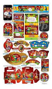 Kit Imprimible Mario Bross Candy Bar Invitaciones Marcos