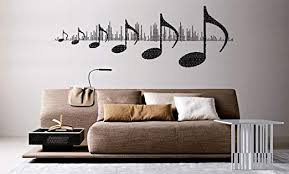 Amazon Com Wall Mural Vinyl Sticker Decal Music Note Sound Wave Al809 Home Kitchen