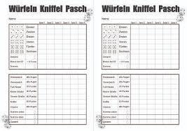 würfelblatt pasch yahtzee yatzy pdf