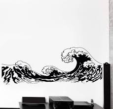 Vinyl Wall Decal Japan Waves Japanese Ocean Sea Marine Cozy Big Decor Wallstickers4you