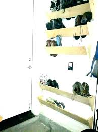Slimline Wall Mounted Shoe Storage Unit Hung Shelves Garage Rack Plans Kids Room Surprising Storag Realtymax