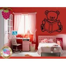 Wallstickers4ever Wall Stickers Vinyl Decal Bear Book Toy For Kids Nursery Home Decor Ig664