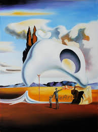 % handpainted salvador dali art painting beauty quotes