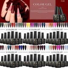 gellen uv gel nail polish 6 colors 10ml