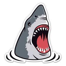 Shark Jaws Scary 12 Vinyl Sticker Waterproof Decal Walmart Com Walmart Com