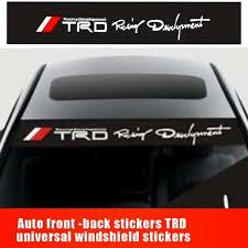 Hot Car Trd Front Window Windshield Carbon Fiber Vinyl Banner Decal Sticker Home