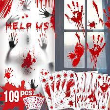 Buying Guide Bloody Handprint Footprint Halloween Decorations 109 Pcs H