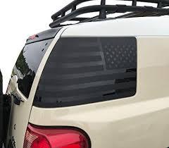 Amazon Com Usa Flag Decal Set Of 2 For Toyota Fj Cruiser Matte Black Handmade