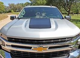2019 Chevy Silverado Trail Boss Hood Decal Stripe 3m Vinyl Graphic Auto Motor Stripes Decals Vinyl Graphics And 3m Striping Kits