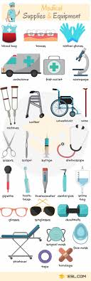 medical supplies and equipment names in