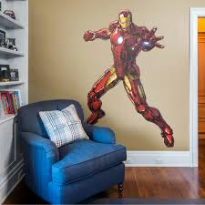 Fathead Iron Man Avengers Assemble Life Size Officially Licensed Marvel Removable Wall Decal Walmart Com Walmart Com