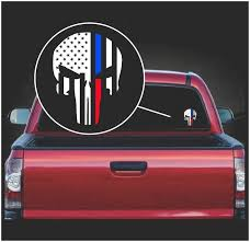 Punisher Skull Flag Police And Fireman Thin Line Vinyl Decal Sticker Sticker Flare Llc