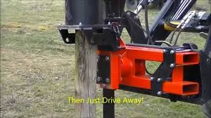 Protech P220 Front Mounted Post Driver On Tractor And Telehandler Youtube