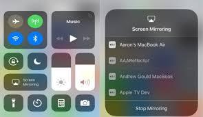 screen mirror ios 11 iphone and ipad