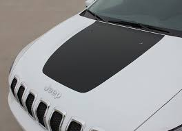 2014 2020 Jeep Cherokee Hood Decal T Hawk Trailhawk Center Stripe Auto Motor Stripes Decals Vinyl Graphics And 3m Striping Kits