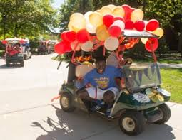 golf carts motor across the siue cus