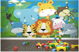 Wallmural Online Jungle Wall Mural For Kids