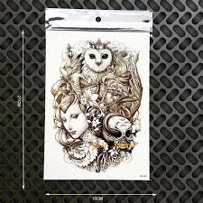 Owl Queen Designs Waterproof Henna Tattoo Wall Sticker Flash Body Art Arm Tattoo Sleeve 21x15cm Skull Car Decal Sexy Tatoos Temporary Tattoos Aliexpress