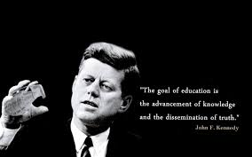 john f kennedy education quotes baltana