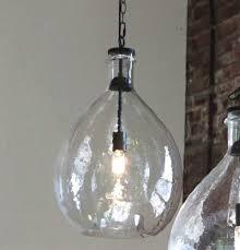 oversized glass pendant light glass