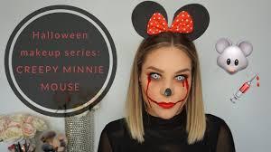 halloween makeup series creepy minnie
