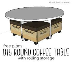 more like home round coffee table with