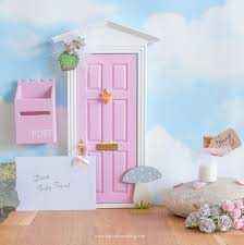 Fairy Dust And Fairy Garden Pre School Young Children Toys Other Pre School Young Children Toys Purple Wooden Fairy Door With Magic Key Toys Games Pre School Young Children Toys