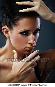 fantasy makeup stock image k6207342